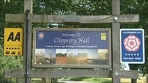Clippesby Hall sign