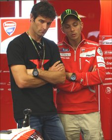 Mark Webber and Valentino Rossi