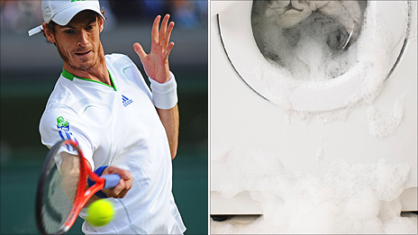 Andy Murray at Wimbledon and a washing machine