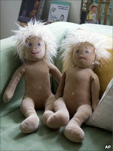 Two dolls used in drama at Egalia pre-school