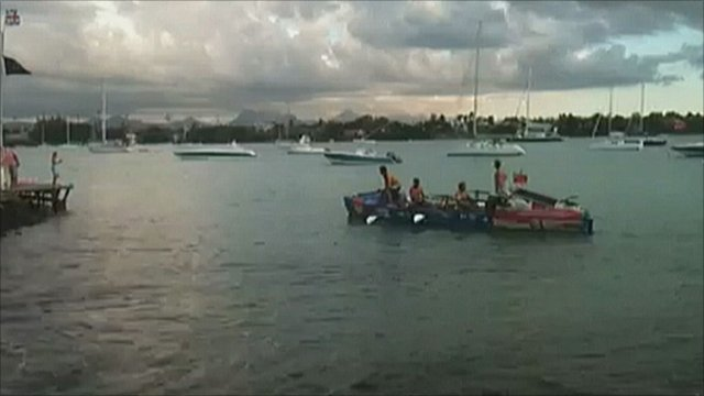 The rowers arrived in Mauritius on Wednesday