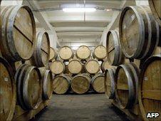 Barrels in the brandy factory