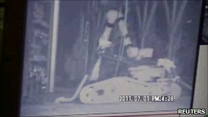 Robot cleaning inside Fukushima reactor building