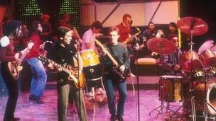 UB40 in happier times performing on Top of The Pops in the 1980s