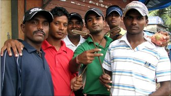 Slum golfers