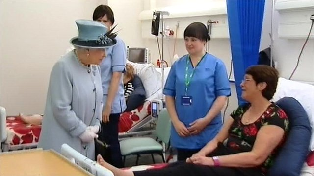 The Queen officially opened the Forth Valley Royal Hospital