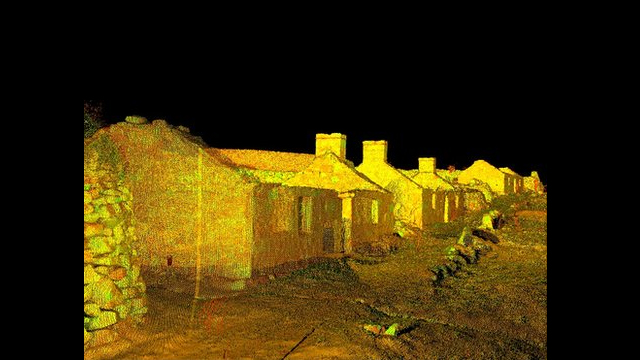 A 3D image of houses in Village Bay (Pic: Historic Scotland / Glasgow School of Art)