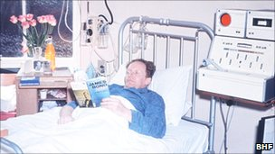 Patient recovering from cardiac arrest in 1966