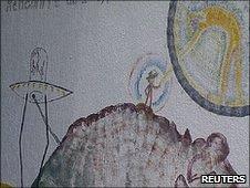 UFO graffiti Bugarach
