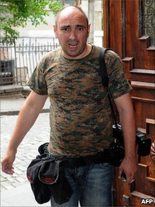 Georgian foreign ministry photographer Georgy Abdaladze, arrested for spying (undated image)
