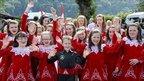 Loughgiel Folk Dancers from Northern Ireland, at the Llangollen International Musical Eisteddfod (picture: Barrie Neil Photography)