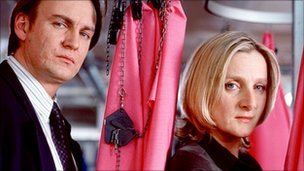 Philip Glenister and Lesley Sharp in Clocking Off