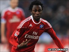 Burkina Faso's Jonathan Pitroipa in action for Hamburg