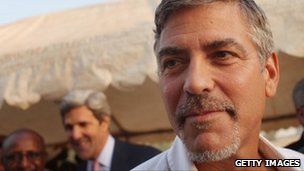 George Clooney in Juba in January 2011
