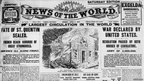 Newspaper headlines in the News of the World during World War I, 1917