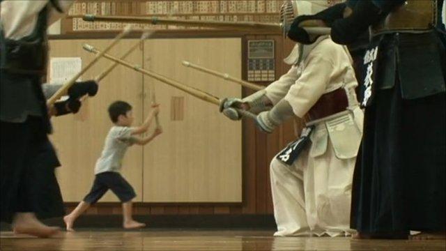 Kendo class in Tokyo