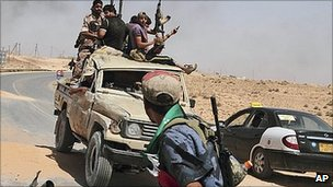 Libyan rebels south-west of Tripoli. 6 July 2011