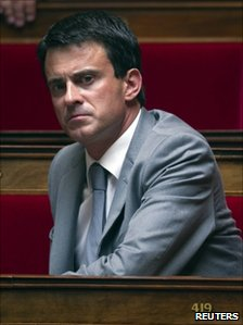 Manuel Valls in the French parliament, 14 June