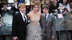 Rupert Grint. Emma Watson and Daniel Radcliffe