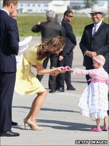 The Duchess of Cambridge met six-year-old Diamond Marshall
