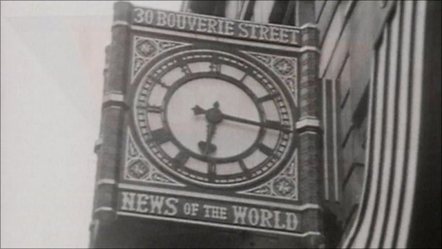 Old News of the World sign