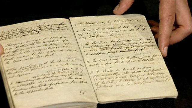 Football's first rulebook at Sheffield FC