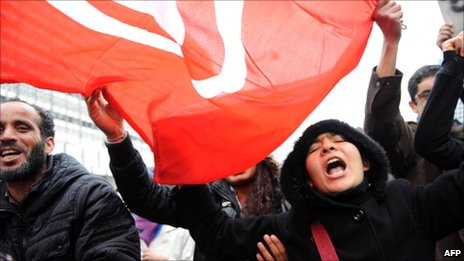 Tunisian students protest January 31, 2011