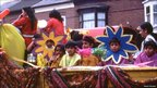 One of the floats at the Belgrave Carnival parade in 1984 (Belgrave Carnival 1982-1985)