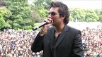 Raghav performing at Leicester Belgrave Mela when it was at Abbey Park (Leicester Belgrave Mela at Abbey Park 2000-2005)