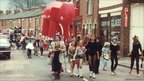The Belgrave Carnival paraded along Harrison Road in Leicester in 1982 (Belgrave Carnival 1982-1985)