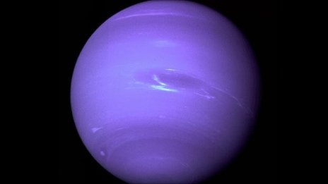 Sky Watching - Neptune covered by the bright blue methane clouds
