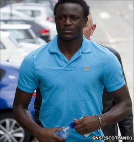 Victor Wanyama arrives at for his medical