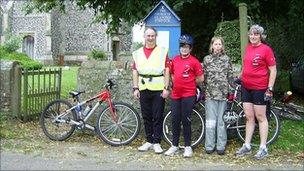 Suffolk Historic Churches Bike Ride at Tostock