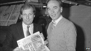 Rupert Murdoch and editor Kelvin Mackenzie