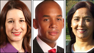 Labour MPs Rachel Reeves, Chuka Umunna and Yasmin Qureshi
