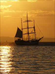 Tall ship off Arran - picture by Garry Burns