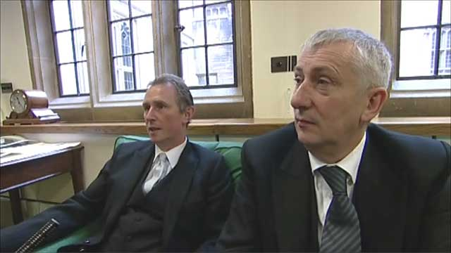 MPs Lindsay Hoyle and Nigel Evans