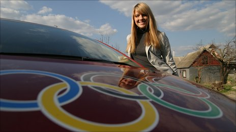Ukrainian fencer and Olympic champion Olga Kharlan