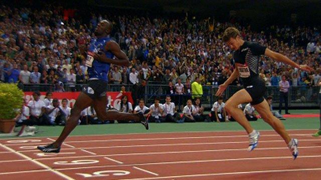 Usain Bolt beats Christophe Lemaitre in Paris