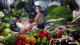 Chinese inflation hits three-year high