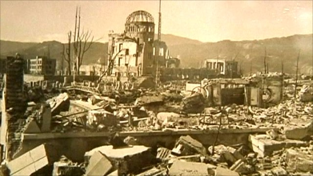 Hiroshima bomb aftermath photograph
