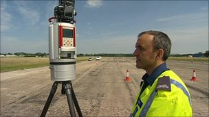 A 3D road crash site scanner