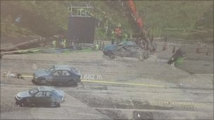 Scanned crash site 