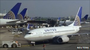 United Airlines planes. Photo: June 2011