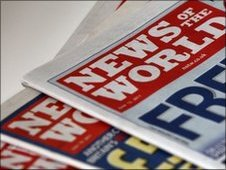 Copies of the News of the World