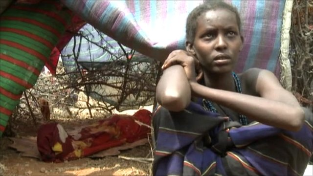 Somali woman in refugee camp