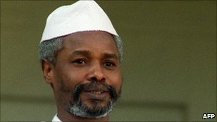Chad&#039;s then President Hissene Habre, in 1989 in Paris