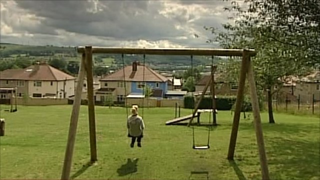 Girl in a playground