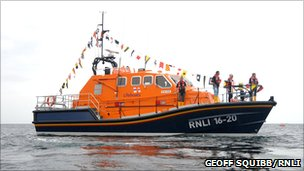 The RNLB Rose in Cornish waters