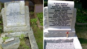 Cecil Foster's family grave